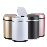 New Inductive Type Trash Can Smart Sensor Automatic Kitchen And Rubbish Bin Stainless Steel Waste Bin