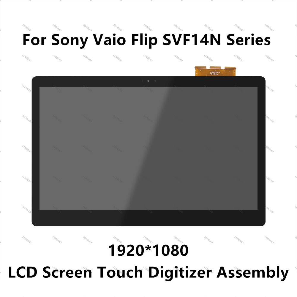 14 inch LCD Display Touch Screen Digitizer Assembly For Sony Vaio Flip SVF14N Series SVF14NA1UL SVF14NA28T SVF14NA1EL SVF14NA1EW new orig laptop case for sony svf14 svf14n series svf14na28t 4 svf14n palmrest