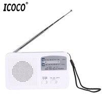 ICOCO Multifunctional Dynamo Solar AAA Battery Powered AM FM Radio With Emergency LED Flashlight Siren Support