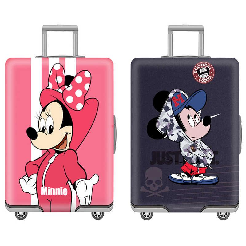 Чемодан для путешествий с рисунком Микки, эластичный защитный чехол, чехлы для 18-32 дюймов, дорожная сумка на колесах, пылезащитная крышка багажника
