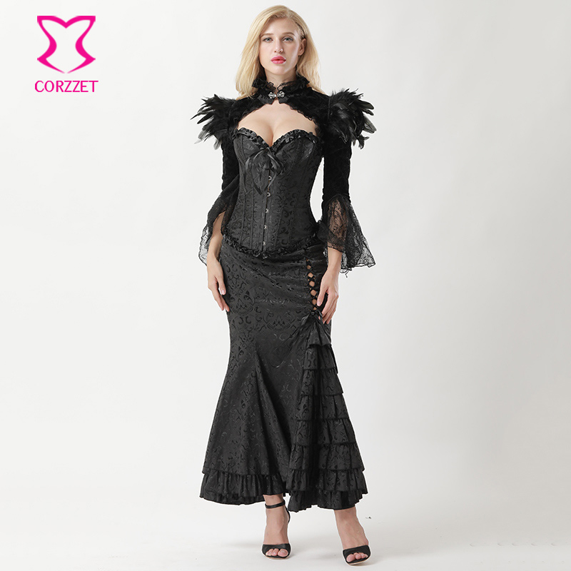 small size corset dress net tutu skirt longer at the back choker necklace day of the dead dracula zombie steampunk gothic victorian dress