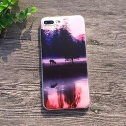 Soft Silicon Cover Case For Apple iPhone 8 7 7Plus 6 6S Plus 5S SE Cases iPhone X Shell Printing Sunrise Over The Sea Styles 5