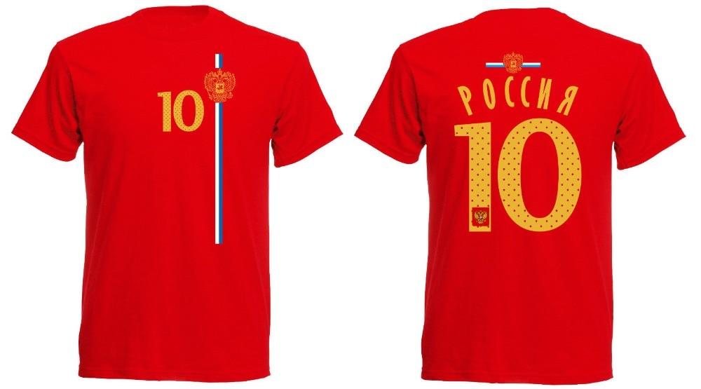 Russland T-Shirt Jersey Russia Nummer 10 Men's Footballer Legend Soccers