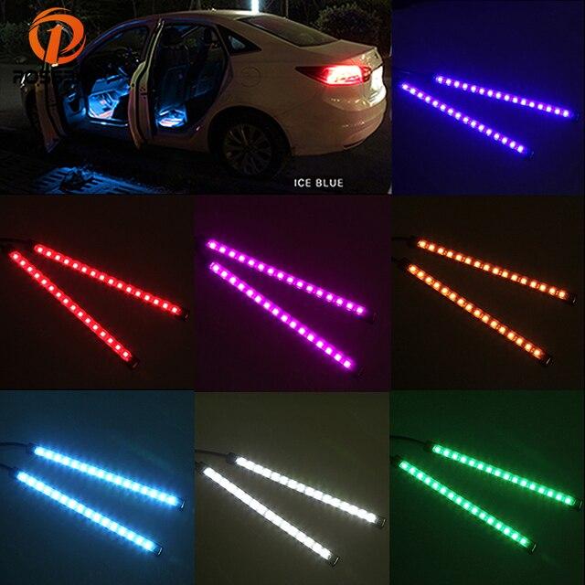 possbay usb auto sfeer verlichting 16led auto interieur strip flexibele neon lights bar 12 v