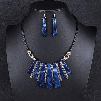 Luxury Choker Drop Tassel Statement Maxi Jewelry Set 2