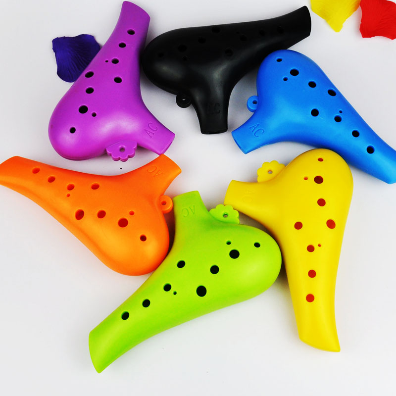 plastic/resin ocarina send materials 12 hole alto C/AC adjustable students beginners recommend playing level