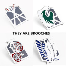 Anime Jewelry Attack On Titan Squad Badge Brooch for Woman Man Brooch