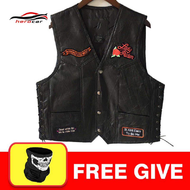 New Motorcycle Jacket Mens Genuine Leather Vest Punk Retro Classic Style Body Armor Jacket Biker Club Casual Vest Moto Clothing free shipping new vintage brand clothing mens cow leather jackets men genuine leather biker jacket motorcycle homme fitness