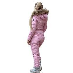 Vrouwelijke Skipakken Vrouwen Een Stuk Ski Jumpsuit Ademende Snowboard Jas Skiën Broek Sets Bodysuits Outdoor Warme Kleding