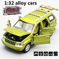 1:32 alloy cars,Jeep Grand Cherokee high simulation model,metal diecasts,toy vehicles,pull back& flashing&musical,free shipping