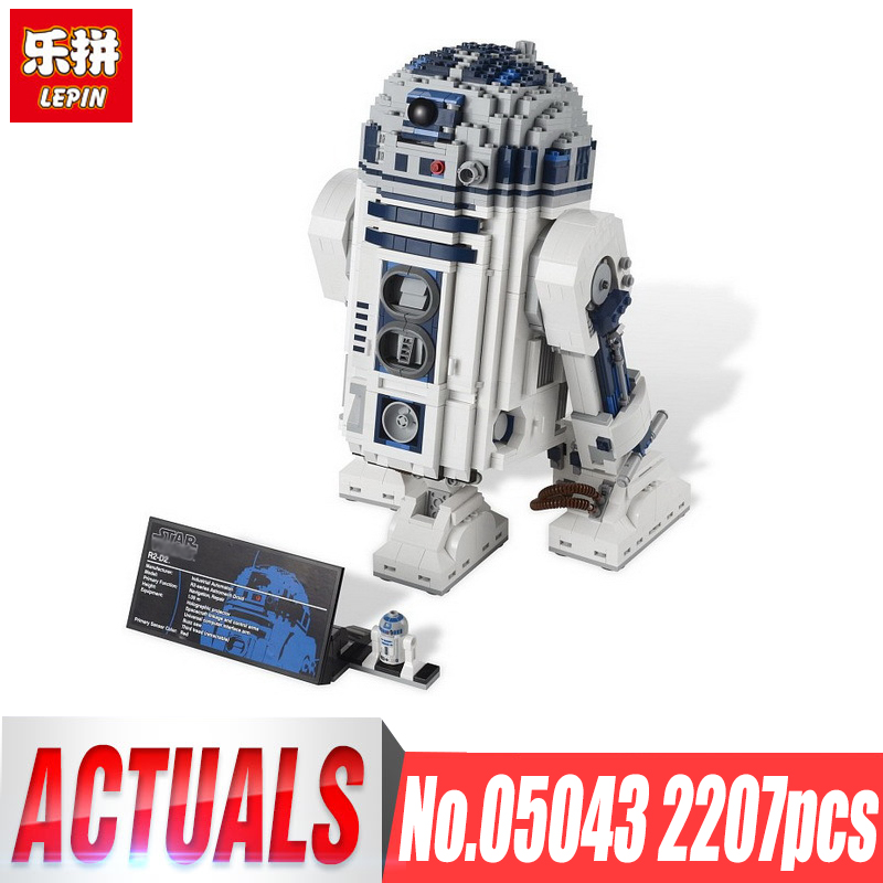 DHL Lepin 05043 star plan Series The wars LegoINGlys 10225 R2 Robot Set D2 Building Blocks Bricks Toys birthday christmas gifts lepin blocks diy building toys kids gifts children educational toy r2 d2 05043