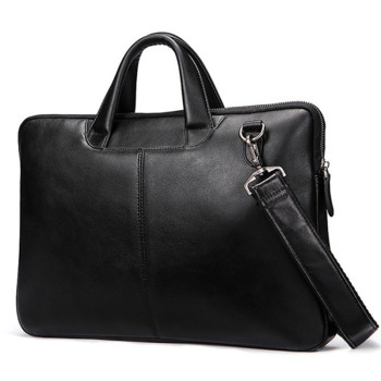 Famous Brand New Design Men's Genuine Leather Briefcase Satchel Bags For Men Business Fashion Shoulder Messenger Bags Laptop Bag