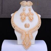 GODKI известный бренд супер роскошные золотые лассо вечерние платье комплекты украшений для женщин Свадебные Naija люкс для кубического циркон