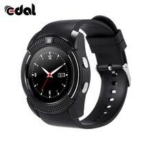 Хорошее Edal1.22 дюйма Смарт часы Поддержка SIM карты памяти слот Bluetooth подходит для Apple iphone телефона Android smartwatch наручные часы