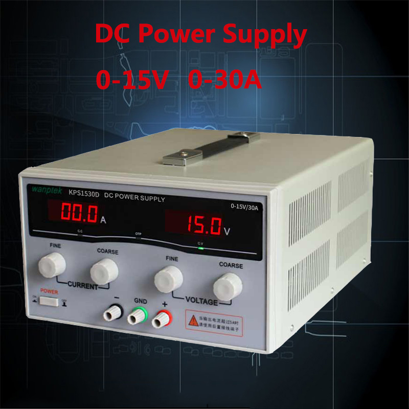 Adjustable Digital DC power supply 15V / 30A High Power Switching power supply AC DC Voltage Regulators 1200w wanptek kps3040d high precision adjustable display dc power supply 0 30v 0 40a high power switching power supply