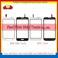 Original For LG L70 Dual Sim Card D325 Touch Screen Digitizer Outer Glass Sensor Black White