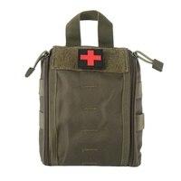 Kit de primeiros socorros ao ar livre camuflagem do exército caminhadas escalada pacote médico grande capacidade suprimentos médicos armazenamento kit sobrevivência sacos