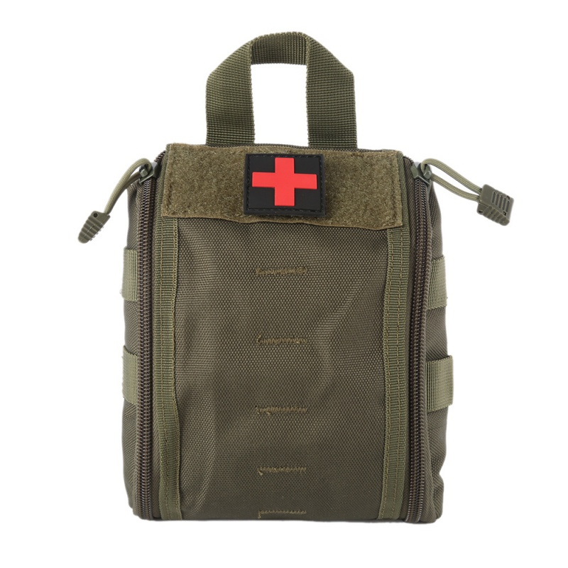 Outdoor First Aid Kit Army Camouflage Hiking Climbing Medical Package Big Capacity Medical Supplies Storage survival kit Bags title=