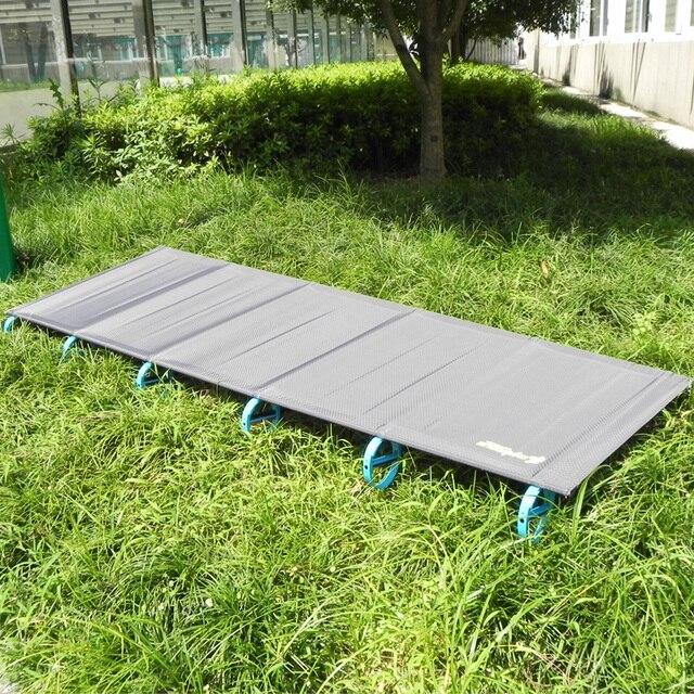 2018 Venta caliente estera de Camping ultraligera resistente cómodo portátil plegable tienda de campaña cama para dormir al aire libre campamento cama marco de aluminio