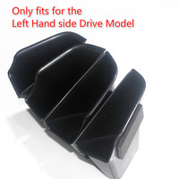 4 pieces / set Black Plastic Interior Front Door Storage Box Holder For Audi A4 A5 2017 2018 Accessories For Left Hand drive
