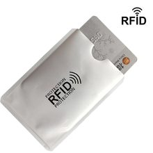 5pcs Anti Rfid Wallet Blocking Reader Lock Bank Card Holder Business Id Card Protector Metal Credit Card Holder Aluminium HB237b(China)