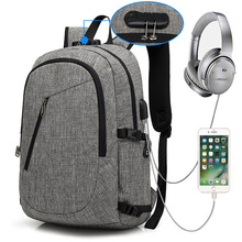 hot deal buy computer laptop bag usb charging backpack school bag pack waterproof durable oxford tablet bag for phone computer accessories