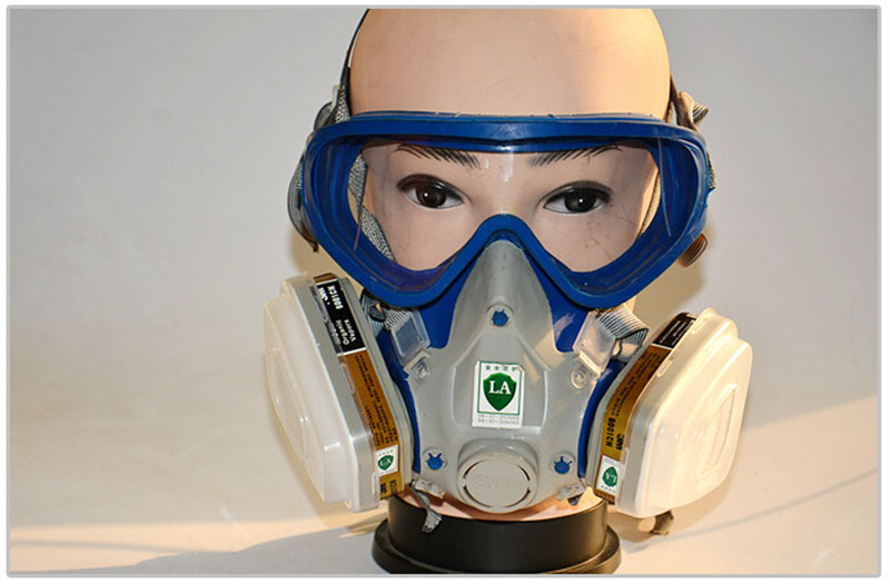 Integrated Glasses Full Face Mask Gas Mask Dust Paint Chemical Masks Activated Carbon Household Fire Escape Breathing Apparatus