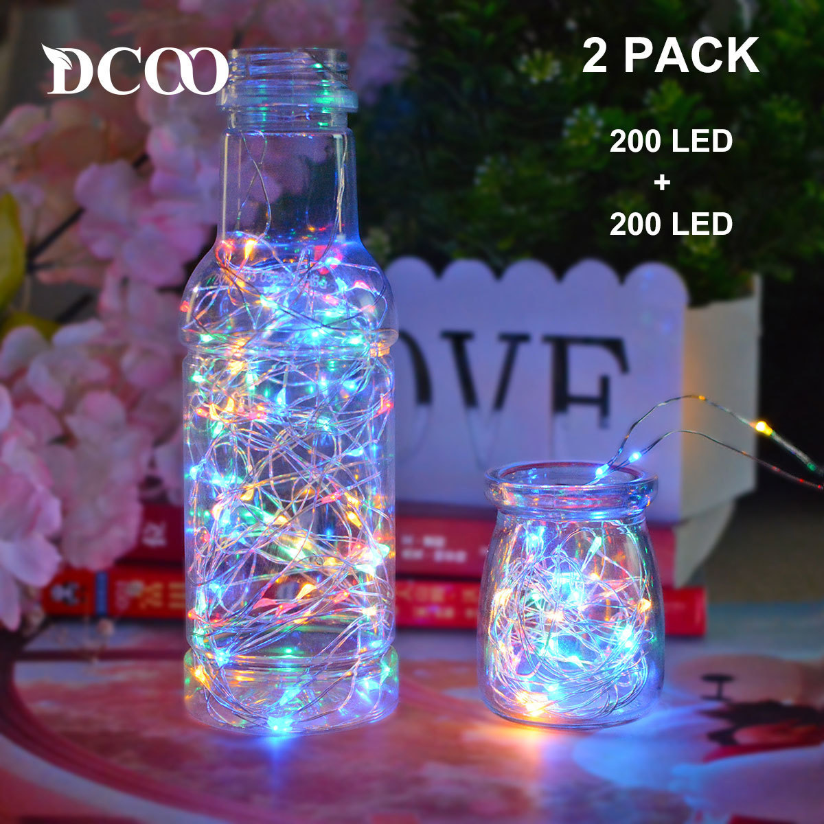 Solar Powered Copper Wire LED String Lights 200 LED Starry Rope Lights Indoor Outdoor Lighting Home Garden Christmas Decoration