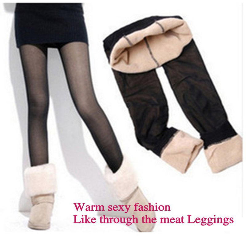 150-170 cm Women Pants 2018 New Keep Warm Winter Fashion False Through The Meat Plus Thick Women Leggings Girls Leggings