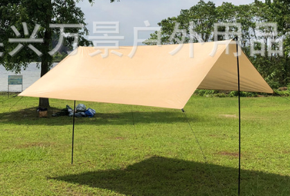 10'x10' 10'x13' квадратный навес для защиты от солнца, водонепроницаемый полиэфирный тент, затенение от солнца, сетка для улицы, для сада, для пеших прогулок, Солнцезащитный навес, парус - Цвет: khaki