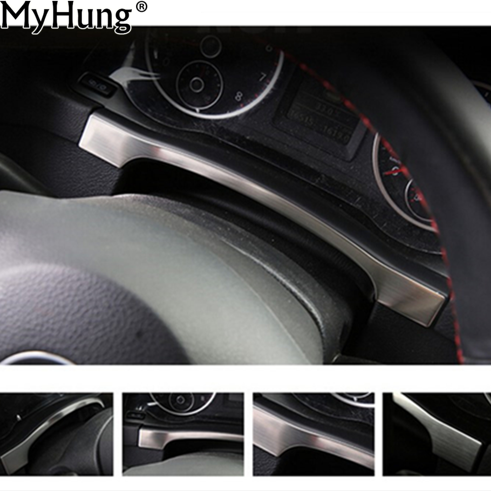 Car Accessories Instrument Panel Dashboard Trim Cover Sticker For Volkswagen VW Tiguan 2010 To 2017 Stainless Steel 1pc