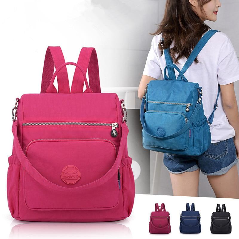 2019 Women Multifunction School Nylon Bags Mochila Travel Fitness Bag Rucksack Trekking Large Capacity Gym Backpack