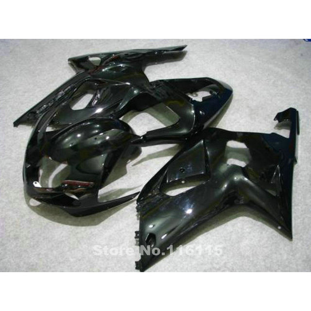 US $379 0 |New aftermarket parts for SUZUKI GSXR600 750 fairings K1 K2 2001  2002 2003 all glossy black fairing kit GSXR 600 GSXR 750 01 02-in Covers &