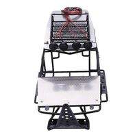 Metal Modified Frame Body Roll Cage with Roof Rack Metal Sheet platefor RC Axial Wraith RC Rock Crawler Model Parts Accessories