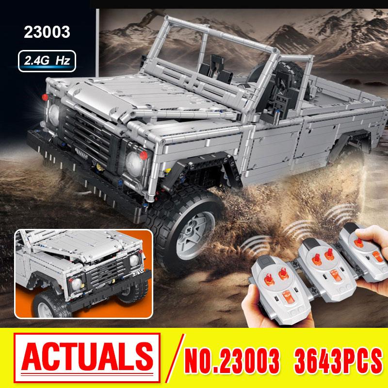 Lepin 23003 New Technic series MOC Remote-Control Wild off-road vehicles model Building Blocks Bricks 3643Pcs advanced intelligent vehicles control