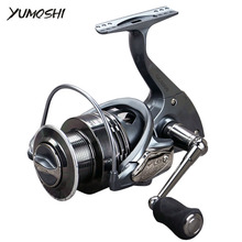 YUMOSHI GC 2000-7000 13+1 Ball Bearings Baitcasting Reel Casting Spinning Reels Metal CNC Rocker Arm Carbon Body Fishing Reel yumoshi fishing spinning reel 6000 10000 13 1bb saltwater high profile upscale boutique cnc rocker arm spinning fishing reels