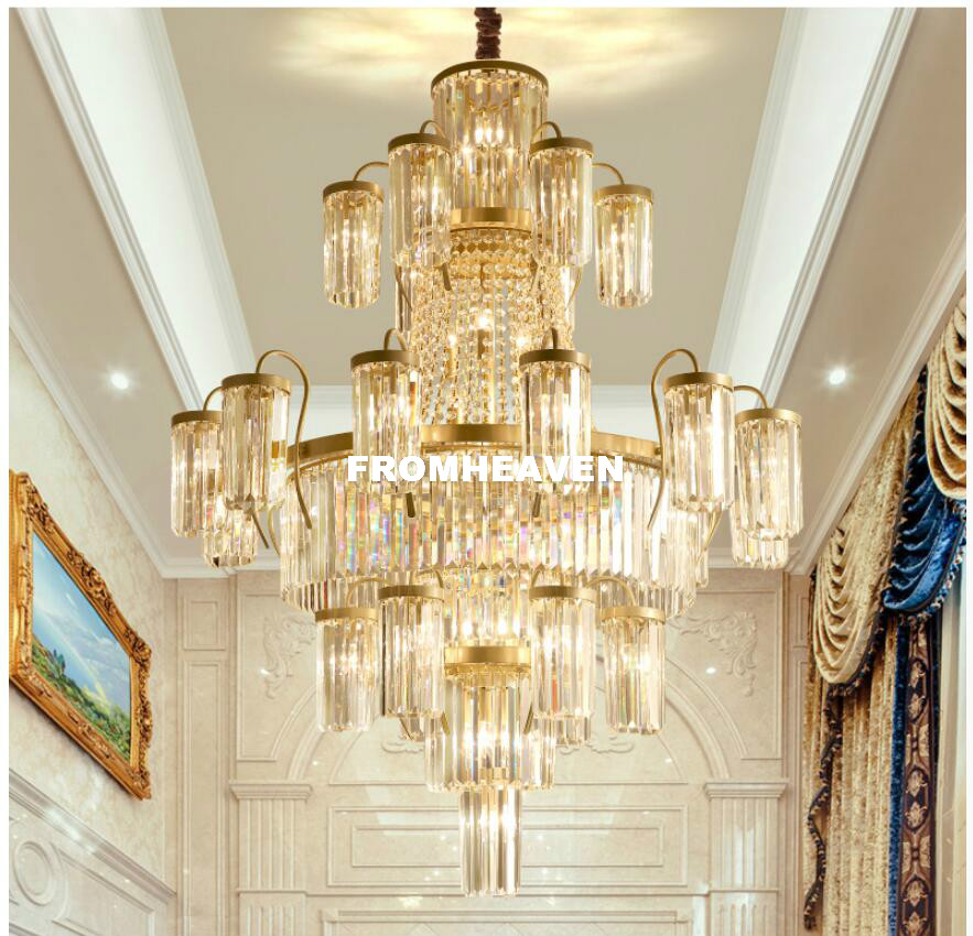 Modern Crystal Chandeliers Lights Fixture Luxury American Golden - Indoor Lighting - Photo 4