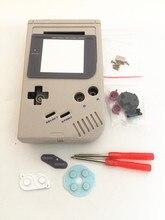 Полный комплект, Классический корпус, чехол, крышка, запасные части для приставка Gameboy GB, игровая консоль для GBO DMG GBP с кнопками, отвертки
