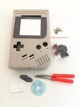 Tam Set klasik konut Shell kılıf kapak onarım parçaları için Gameboy GB oyun konsolu için GBO DMG GBP düğmeleri ile tornavidalar