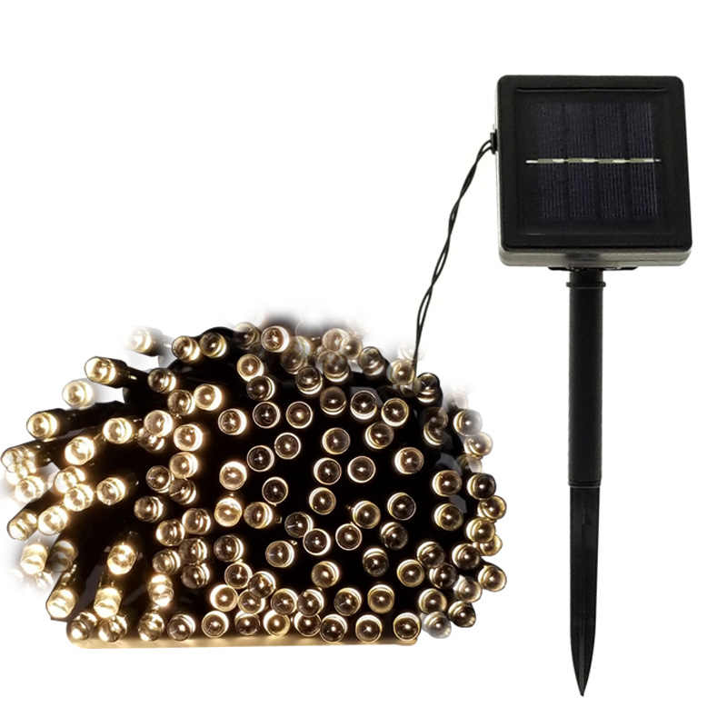 Открытый светодиодный светильник на солнечных батареях водонепроницаемый 22 м 12 м 7 м сказочное освещение для рождественского сада газон двор праздничное украшение