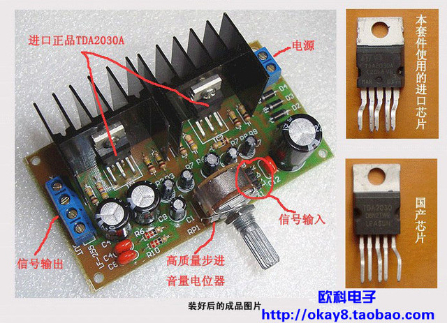 Td2030a Amplifier Kit Diy Electronic Kits Produced Parts Assembled