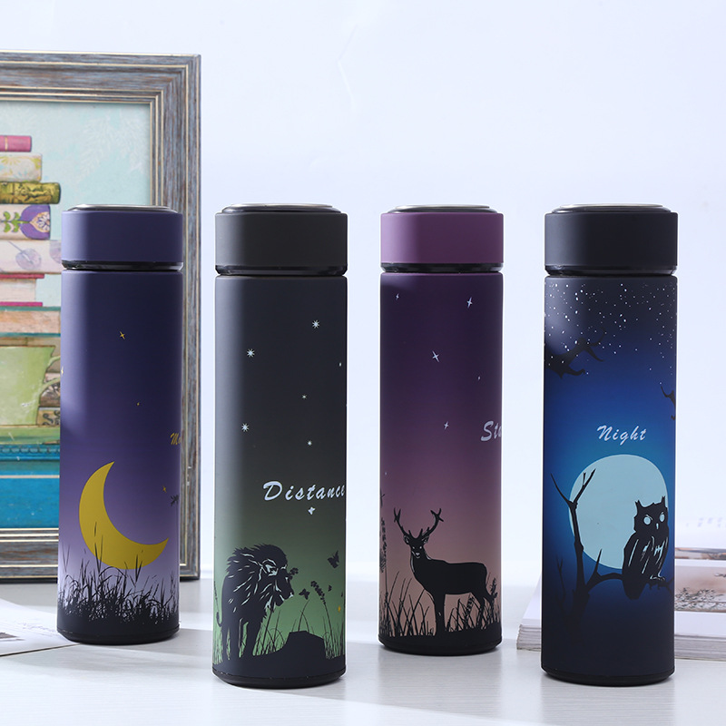 ZOOOBE 450ML Thermos Bottle Stainless Steel 304 Vacuum Flask Insulated With Infuser Thermos Travel Coffee Tea Thermocup