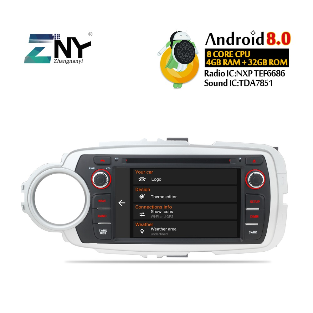 7 Ips Display Android 80 Car Dvd For Toyota Yaris 2012 2013 2014 Yaris821707 Ambient Temperature Sensor Circuit Diagram 2015 2016 2017 Auto Radio Gps Navi Audio Video Backup Camera In Multimedia Player