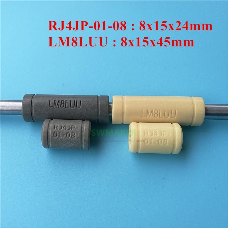 1pcs Igus Plastic LM8UU Linear Bearing bushing RJ4JP-01-08 FOR CNC 8mm round rod
