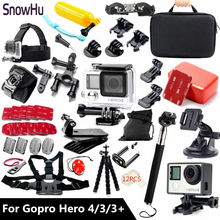 Go pro Accessories set Gopro Waterproof Housing Case Mount Hero 4 3+ 3 For Gopro Hero 4 hero 3 hero 3+ With Black Edition GS60 экшн камера gopro hero 7 silver edition chdhc 601 le
