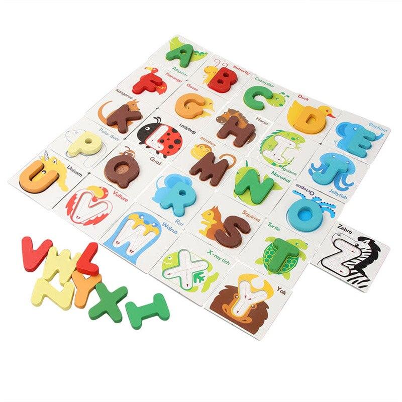 Детские DIY Алфавит ремесел головоломки игрушки детские головоломки Дошкольное раннего обучения образовательных буквы Craft игрушки для дете...