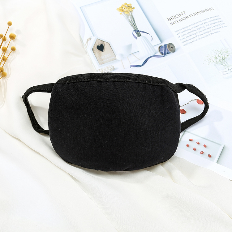 Hot Black Mouth Mask Cotton Anti Dust Protective Double Kpop Mask Washable Many Times Using Hot Sale