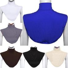 2021 Women's Modal False Collar Hijab Moslem Islamic Pure Color Neck Cover Loop Scarf  Woman's fake collars cuello falso mujer