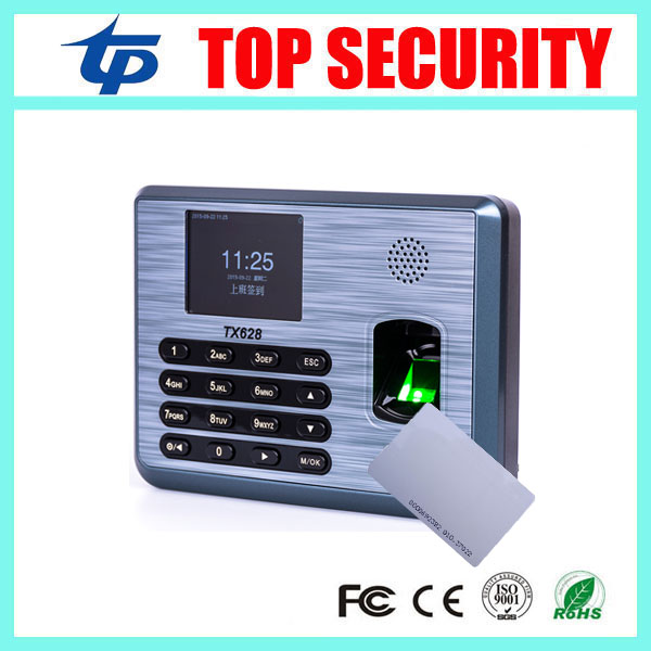 Color screen biometric fingerprint and RFID card time attendance time clock TX628/ID with TCP/IP USB communication hot selling 3 high speed good quality 30000 user capacity color screen time attendance time clock m200 with tcp ip rj45