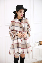 Tartan plaid scarves scarves women three color options super soft comfortable blanket wrap shawl